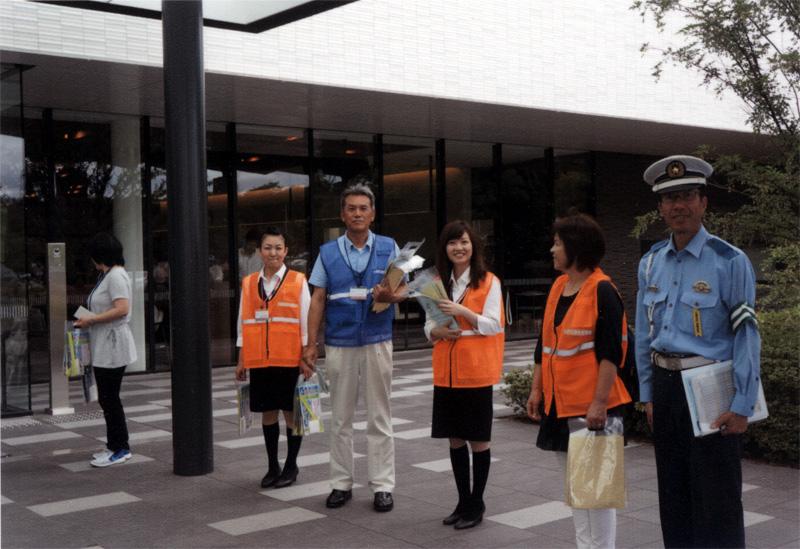 北播磨総合医療センターで交通安全啓蒙活動を実施