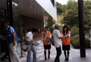 北播磨総合医療センターでの交通安全啓蒙活動